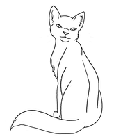 Cat Lineart 11 by Aira90