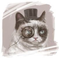 Sir Grumpy Cat by Mirella-Gabriele