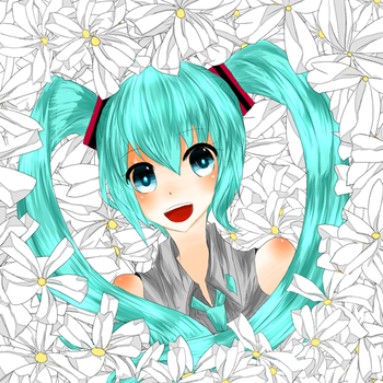 VOCA:[hatsunemiku] Song Of Flowers by abonn