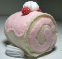 Strawberry Scroll Cake ... nom by DQBunny