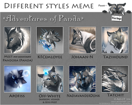 Adventures of Panda by areot