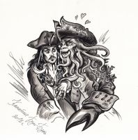 Captain Jack Sparrow and Davy Jones. by Bormoglot