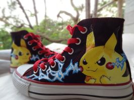 Pikachu Kicks by Krazmuth