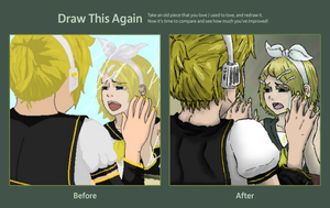 Draw this again challenge - Kagamine mirror by ChibiLOL