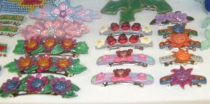Clay barrettes by ladytech