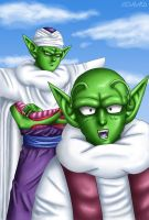 Dende and Piccolo by Corad