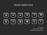 social media icons by shapshapy