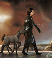 Loki and sleipnir by Brownylai