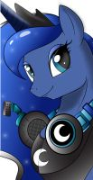 Gamer Luna (colorized version) by 0Gamex0