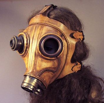 Steampunk Leather Gas Mask by TomBanwell