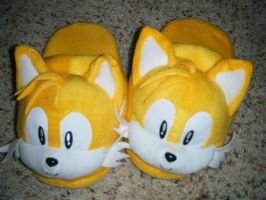Tails Slippers of Epic Winnage by LordChao101