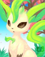 Like a leafeon to the face by Pand-ASS
