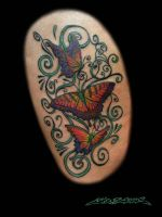 Filigree and Butterflies Tatto by MuddyGreen