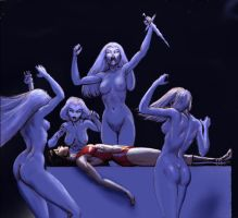 Vampirella and the Witches by Nick-Perks