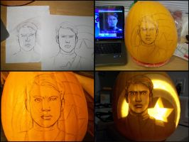 C.A. pumpkin progress by Rider4Z