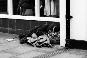 Down and Out on Wells High Street by EarthHart