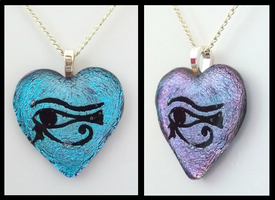 Color Changing Eye of Horus Dichroic Glass by HoneyCatJewelry