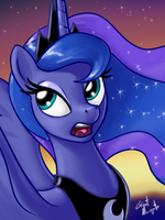 Princess Luna is growing tired of your shenanigans by GiantMosquito