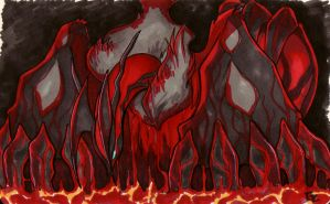 Yveltal of the Fire by HasegawaVega