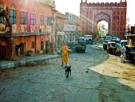 Indian Streets by featherwhitey