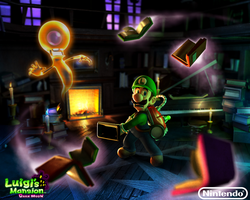 Luigi's Mansion: Dark Moon 2013 Wallpaper by Legend-tony980