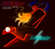 -Art Trade- Atomic VS. Speedy by Nazumeow735