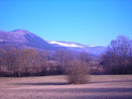 Snowfull and snowless hill by sedsone