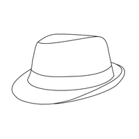 Fedora Lineart -- Free Use by emgeal