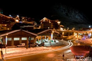 Tignes At Night by cupplesey