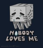 A Minecraft Ghast -Nobody Loves Me- by Satha