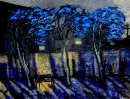 Blue Trees..120cmx90cm by glenox66