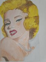 Marylin Monroe by beastwithapencil