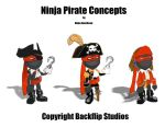 Ninja Pirate Concepts by pinkhavok