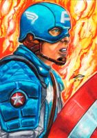 CAPTAIN AMERICA SKETCH CARD by AHochrein2010