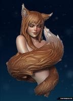 Spice and Wolf Horo sculpt by FunkyBunnies
