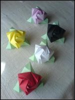 Cube Roses by lonely--soldier