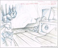 Hand Drawn Pinocchio Production Background by AnimationValley