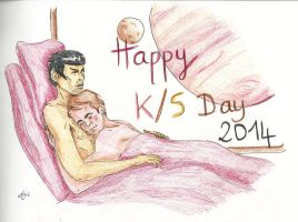 Home to each other - K/S Day 2014 by AloiInTheSky