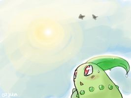 Chikorita Bright Summer by AppleLove