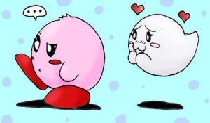 Kirby and Boo by MissyZero