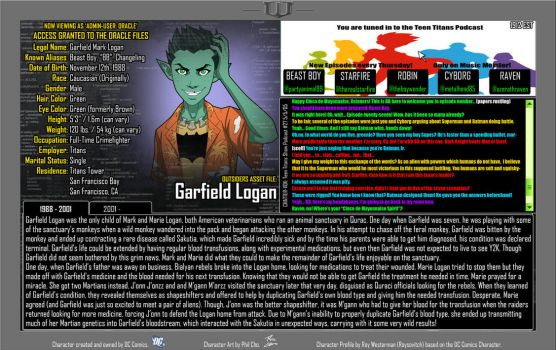 Oracle Files - Garfield Logan by Roysovitch