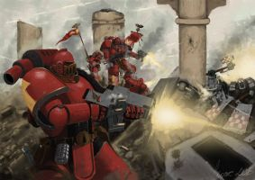 Pre Heresy Blood Angel by Ilqar