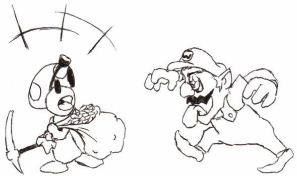 Watch out for Wario, Toad! by hoblinlord