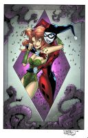 Posion Ivy and Harley by JackLavy