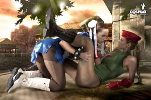 Street Fighters by cosplayerotica