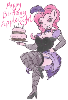 Pinkie Birthday Pinup by c-willey
