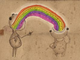 Rainbow Eaters by exepotes