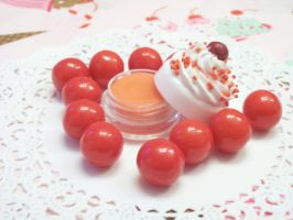 Cherry Deco Lip Balm by lessthan3chrissy