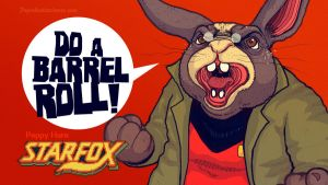 Starfox: Do A Barrel Roll by paperbeatsscissors