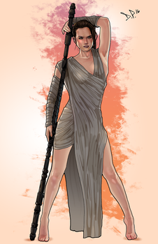 Rey - The Force Awakens by Midnight-Machine